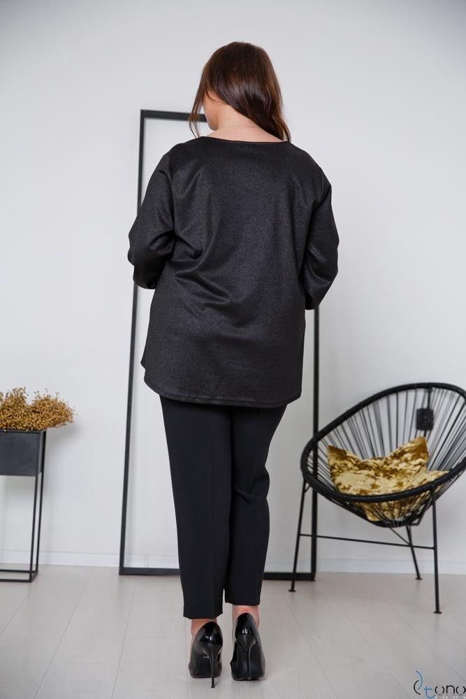 Black Blouse DIMENA Plus Size