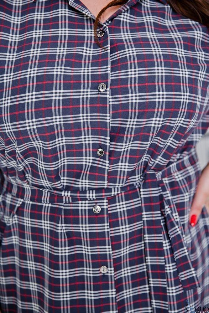 Navy Shirt FIENA Plus Size