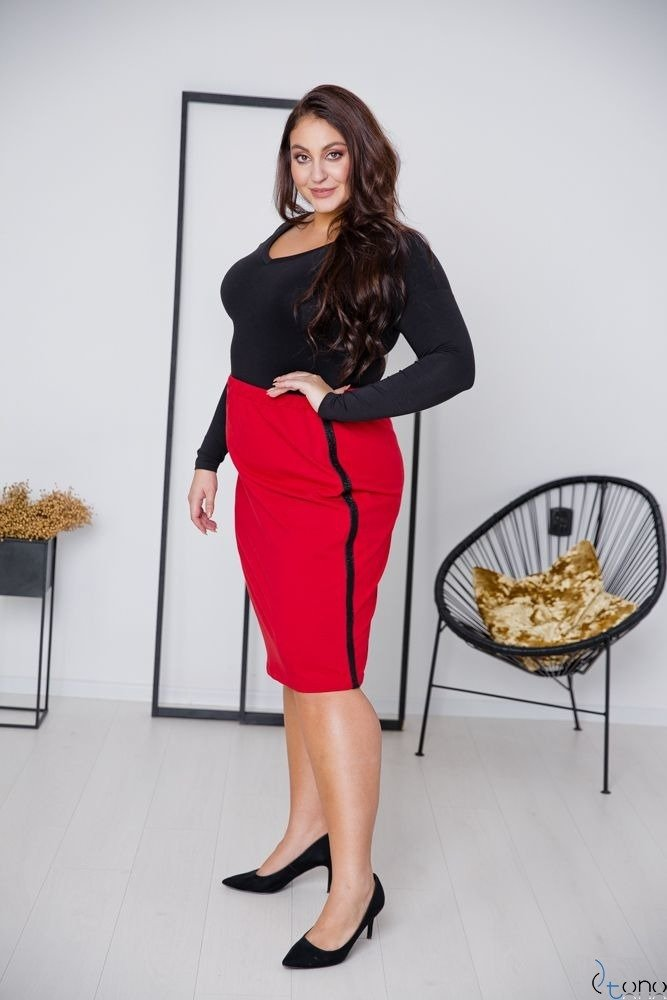 Red Skirt ADELLA Plus Size