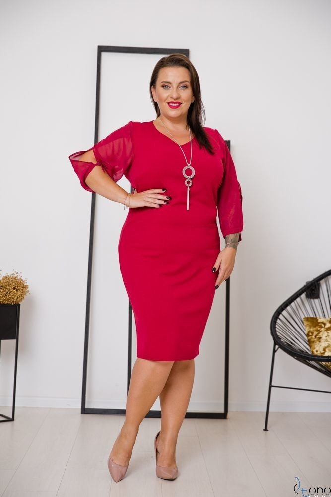 Claret Dress RETRA Plus Size