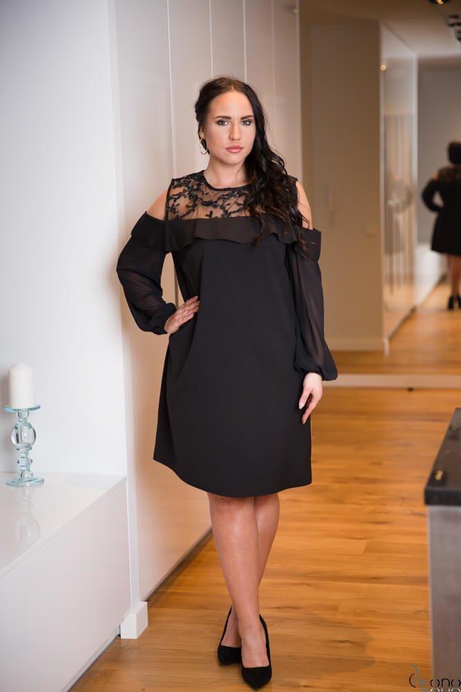 9a4975317c Czarna Sukienka INEZ Plus Size ✅ darmowy odbiór w punckie i zwrot ...