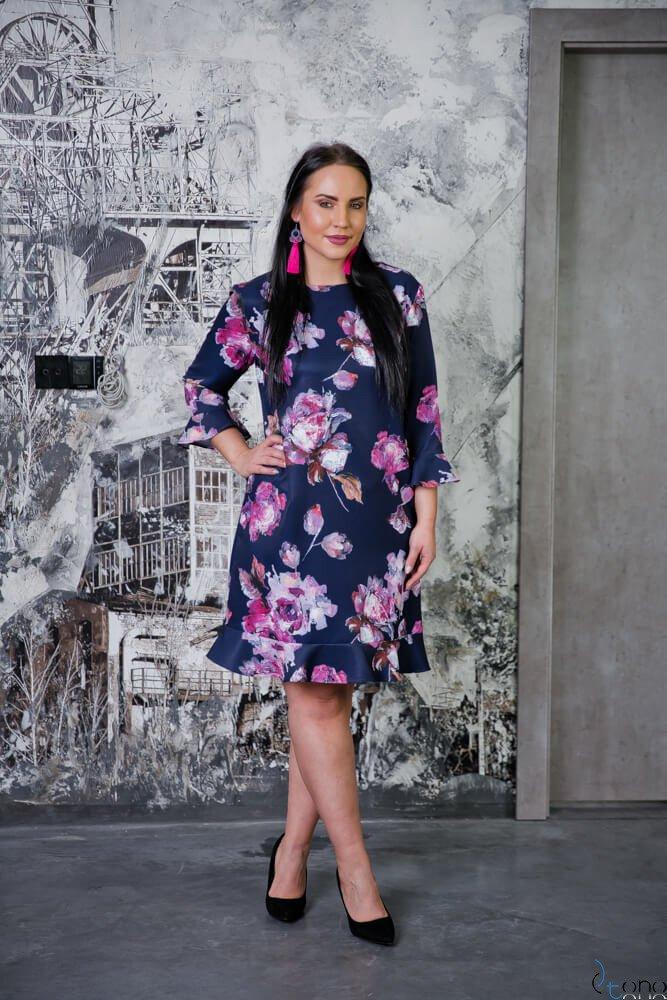 Sukienka CIROLA Plus Size Wzór 1