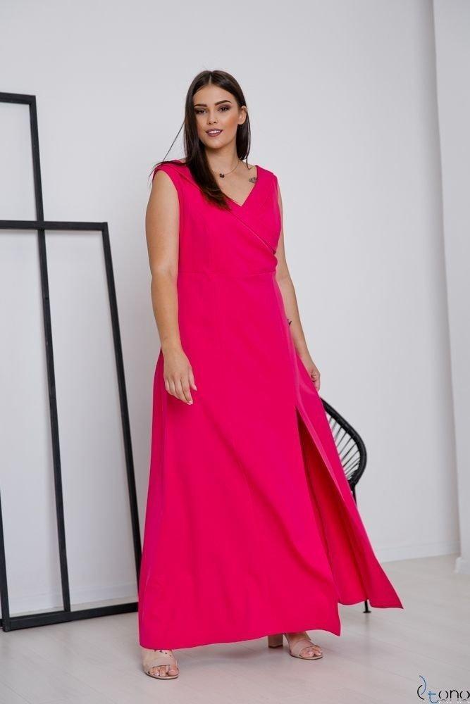 Amarantowa Sukienka BEATRIZ Plus Size Maxi