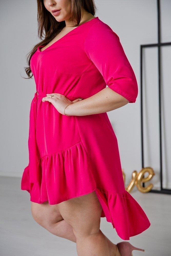 Amarantowa Sukienka ELENA Plus Size