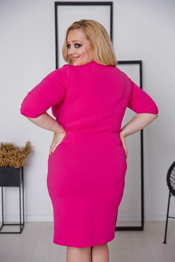 Amarantowa Sukienka MAGENTA Plus Size