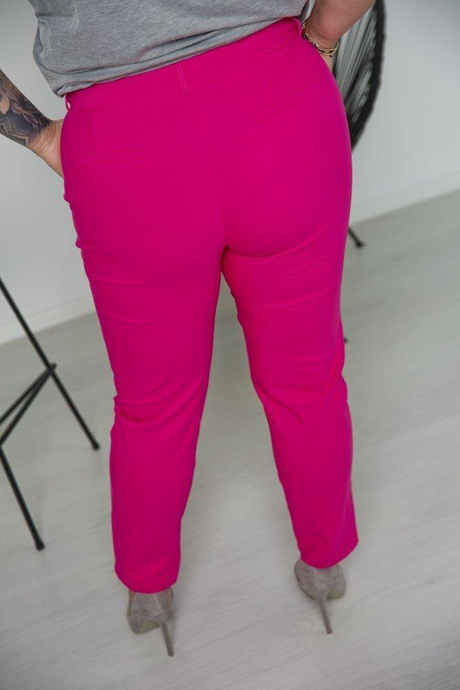 Amarantowe Spodnie MORTY Plus Size