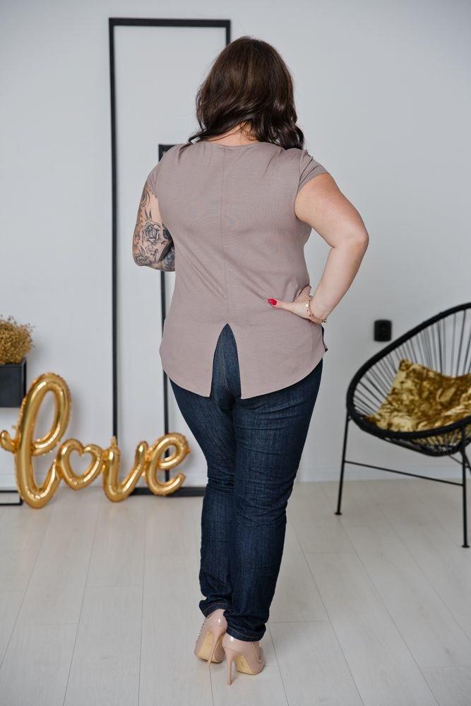 Beżowa Bluzka ALMENA Plus Size
