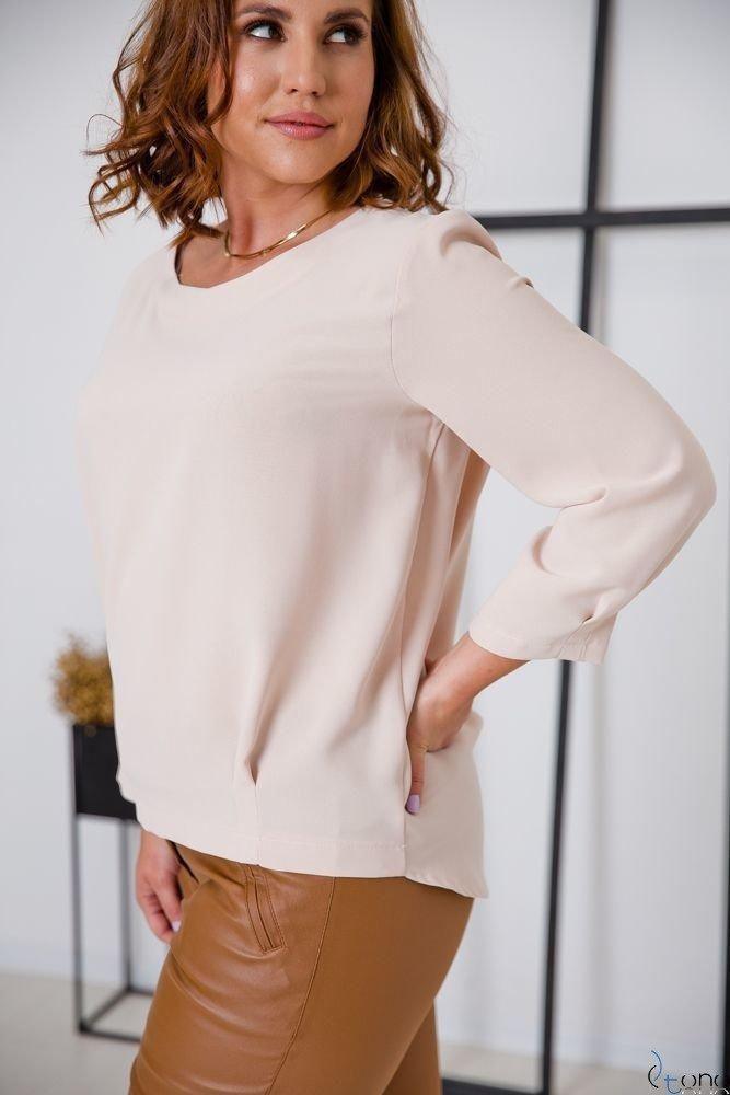 Beżowa Bluzka AUROSIA Plus Size