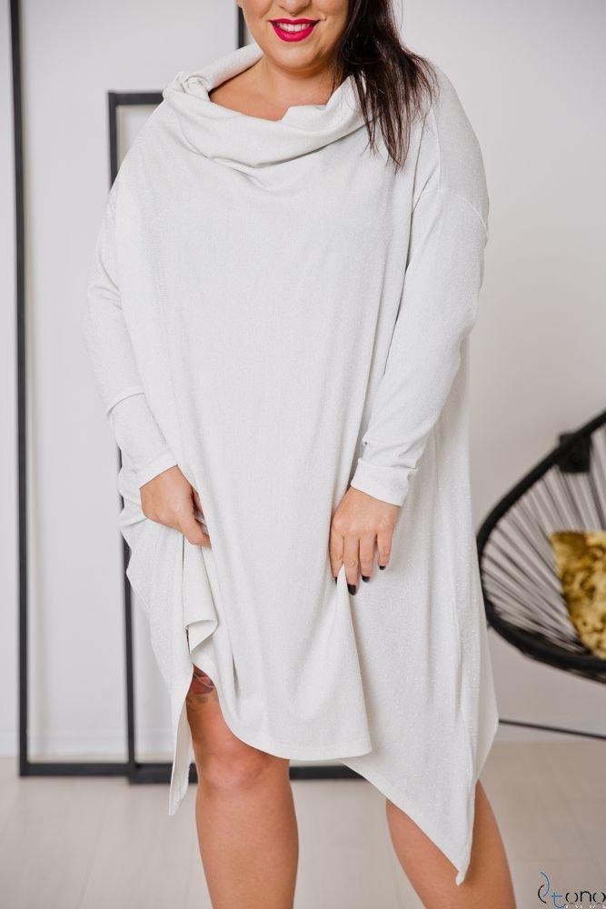 Beżowa Tunika SALAMA Plus Size