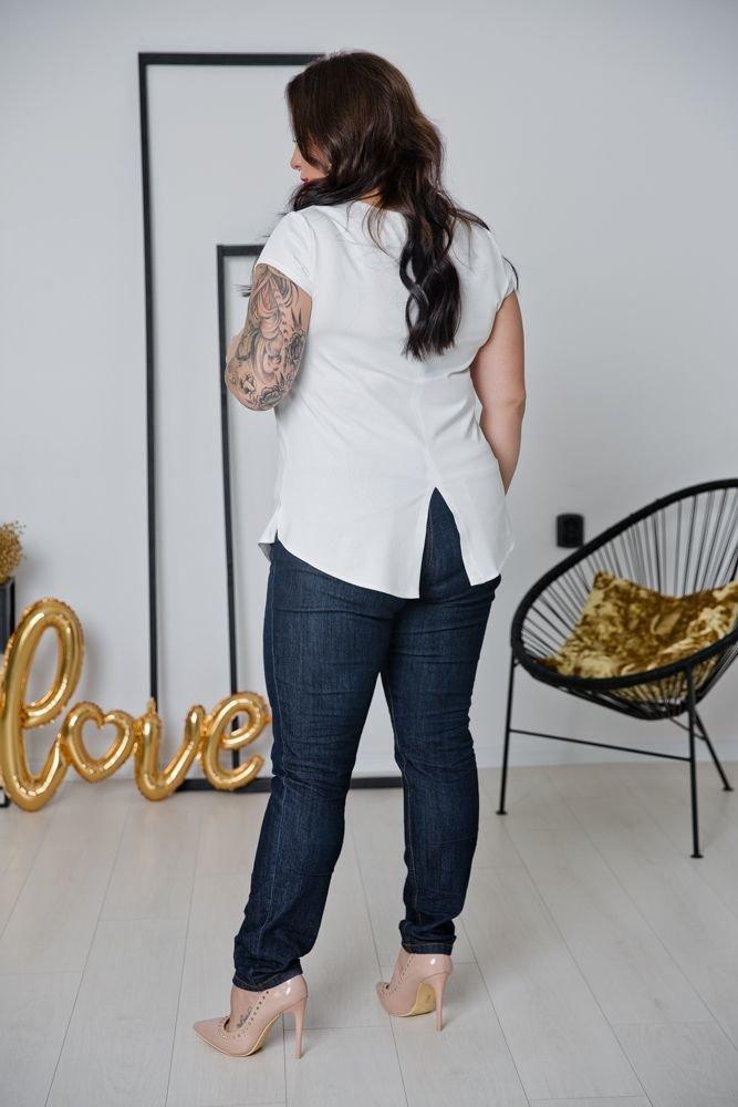Biała Bluzka ALMENA Plus Size