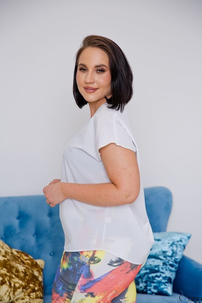 Biała Bluzka COVER Plus Size