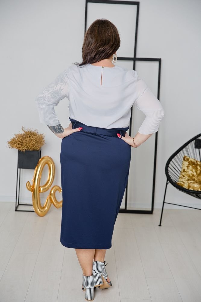 Biała Bluzka JULIANA Plus Size