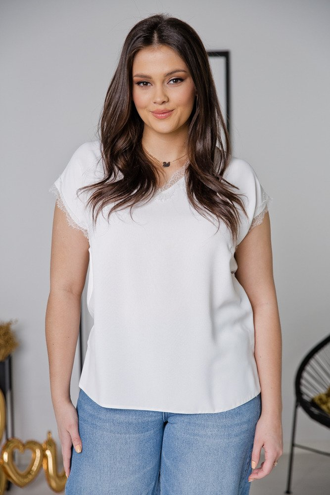 Biała Bluzka LENA Plus Size