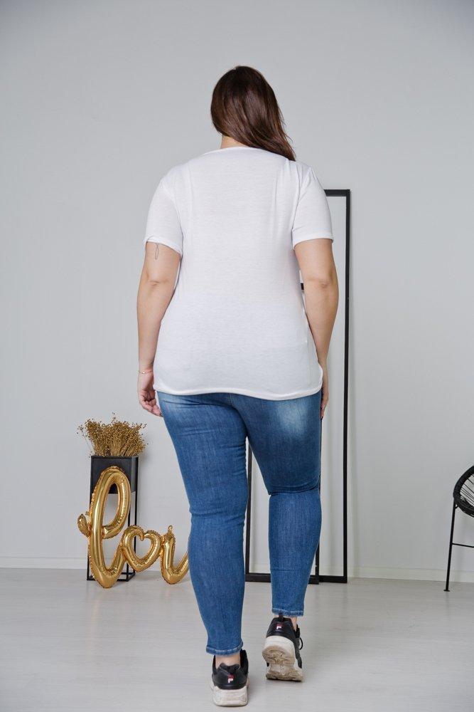 Biała Bluzka SELF LOVE Plus Size