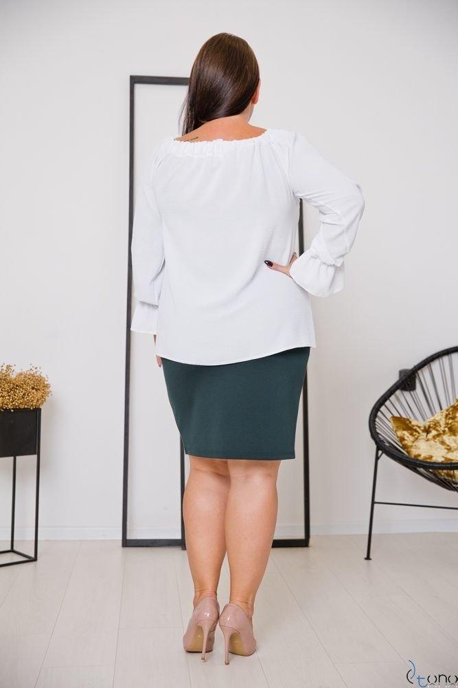 Biała Bluzka SEVIJA Plus Size