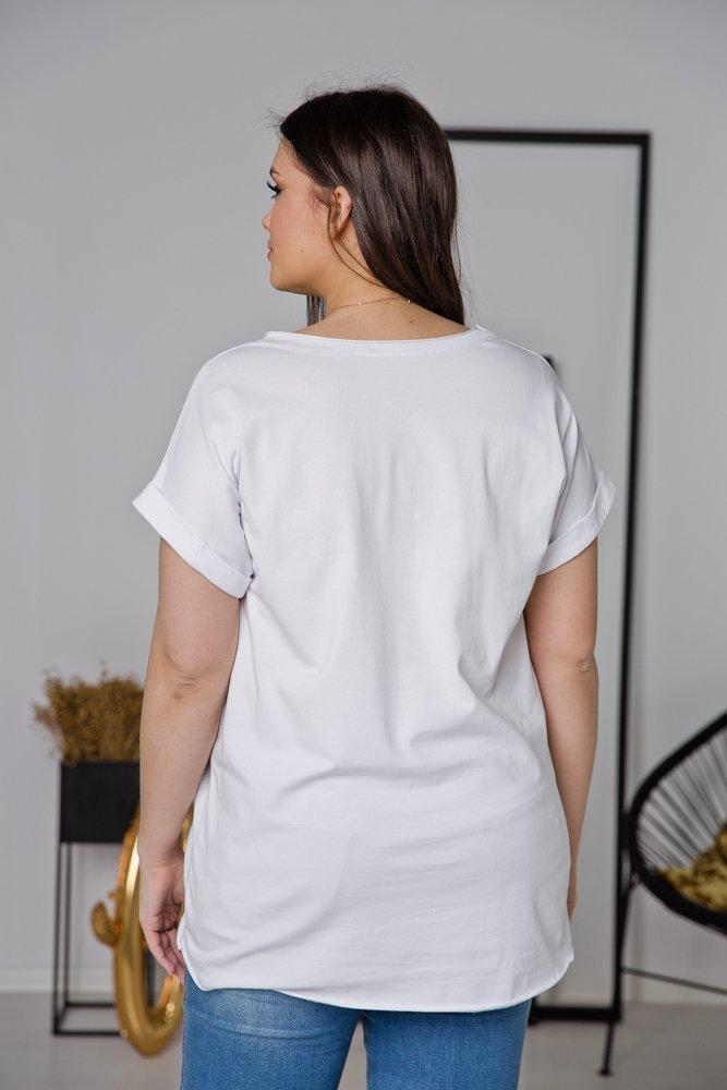 Biała Bluzka SMILE Plus Size
