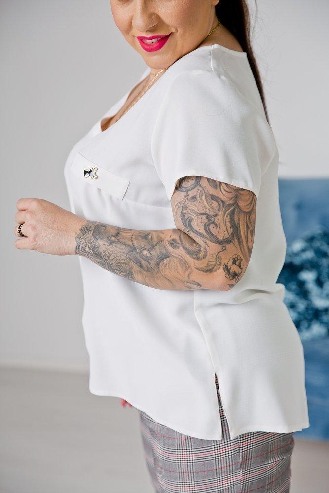 Biała Bluzka TARDIS Plus Size