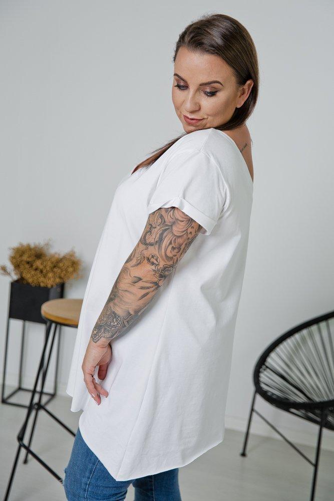 Biała Bluzka ZENDA Plus Size