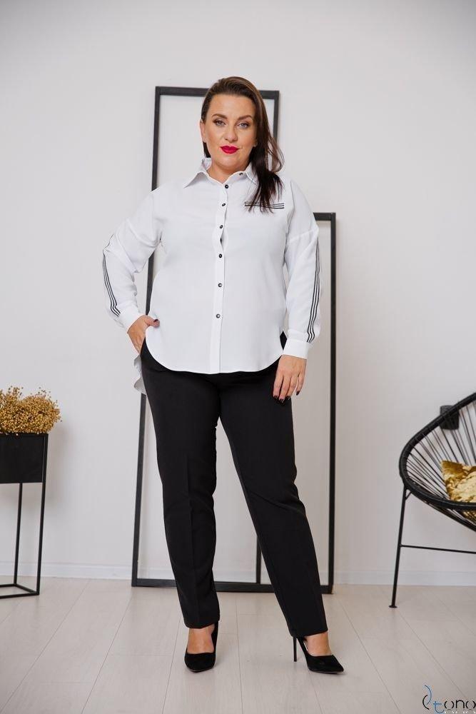 Biała Koszula ERINE Plus Size