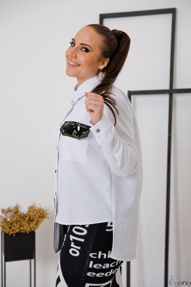 Biała Koszula FUTURRA Plus Size