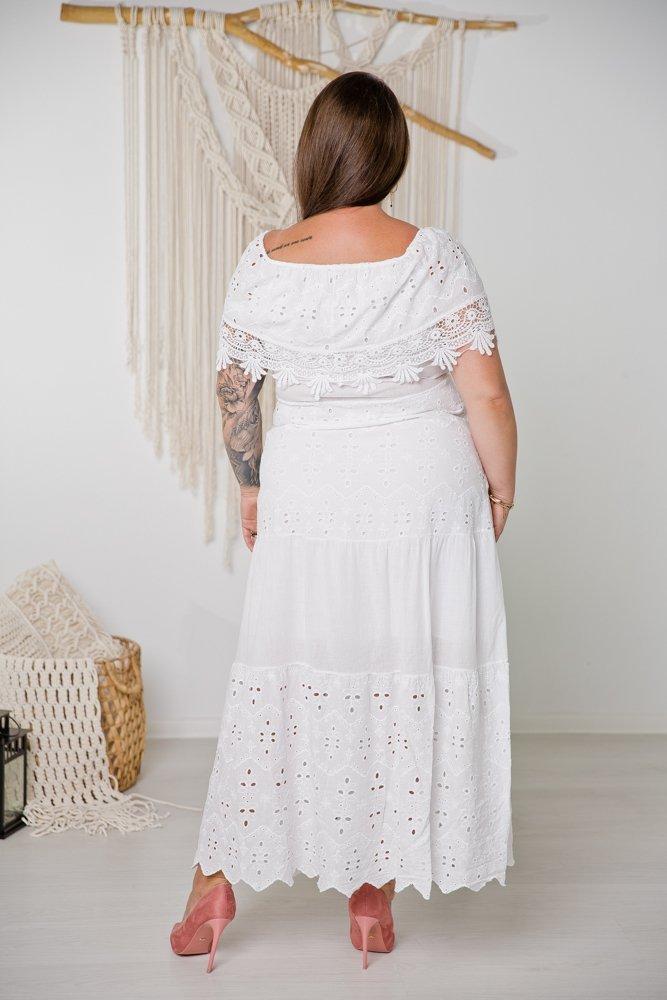Biała Sukiena PURENA Plus Size