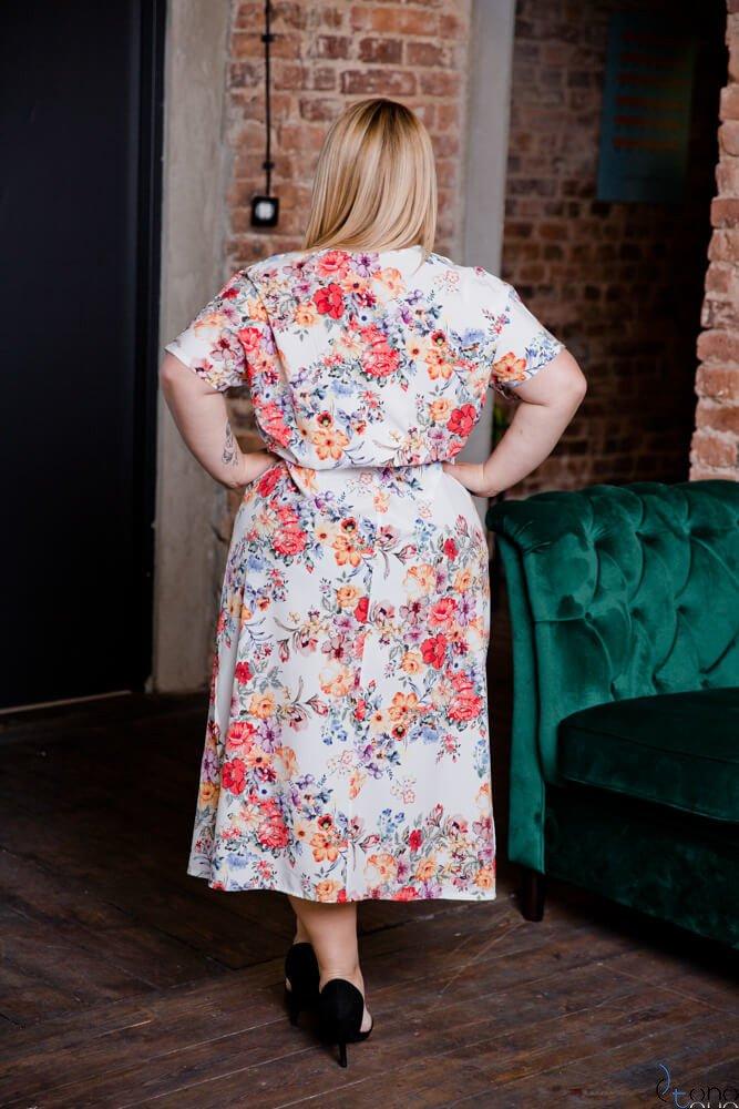 Biała Sukienka LABIOS Plus Size