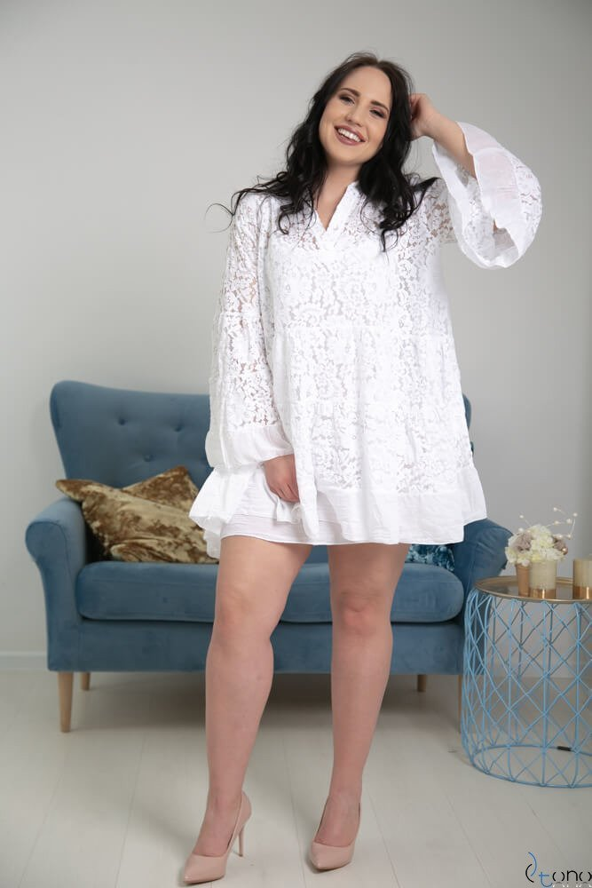 Biała Tunika BIANCA Plus Size