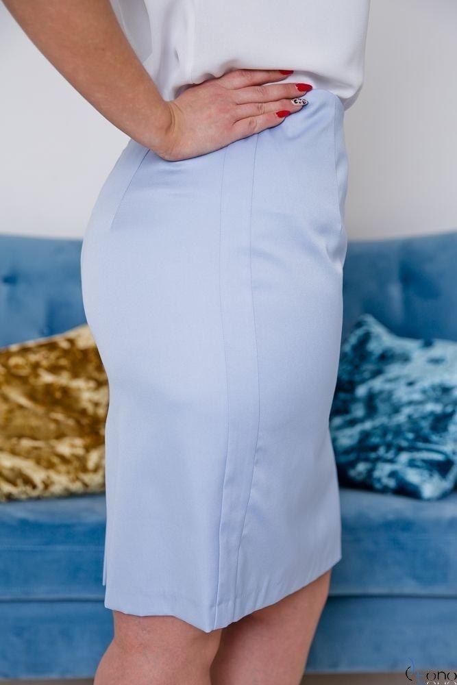 Błękitna Spódnica DEBBY Plus Size