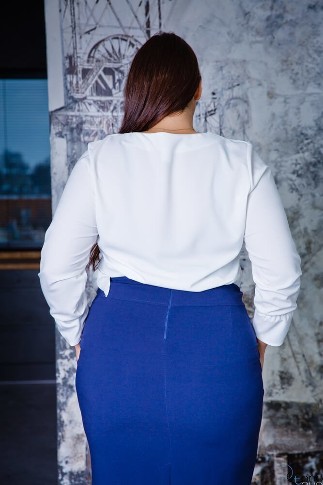 Bluzka BUFFANA Plus Size Ecru
