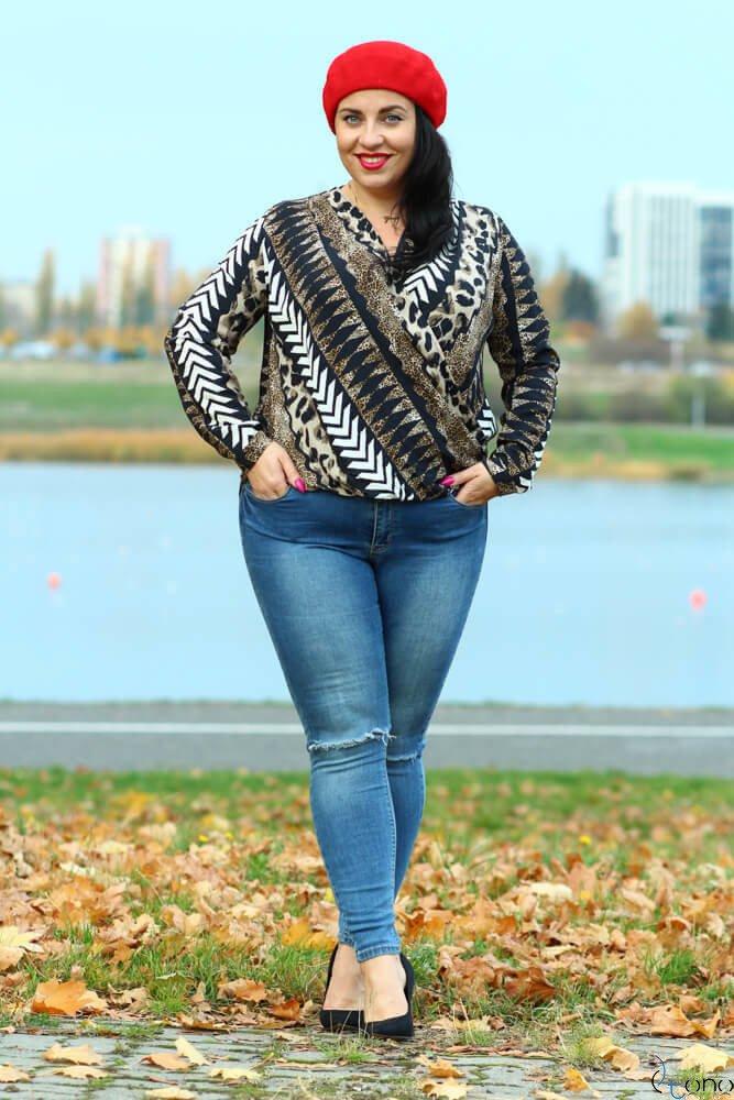 Bluzka CARTINA  Kopertowa Plus Size wzór 3