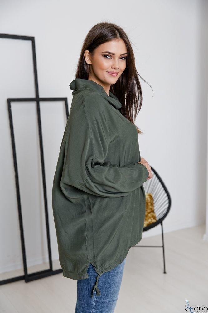 Bluzka Khaki COLLO Plus Size