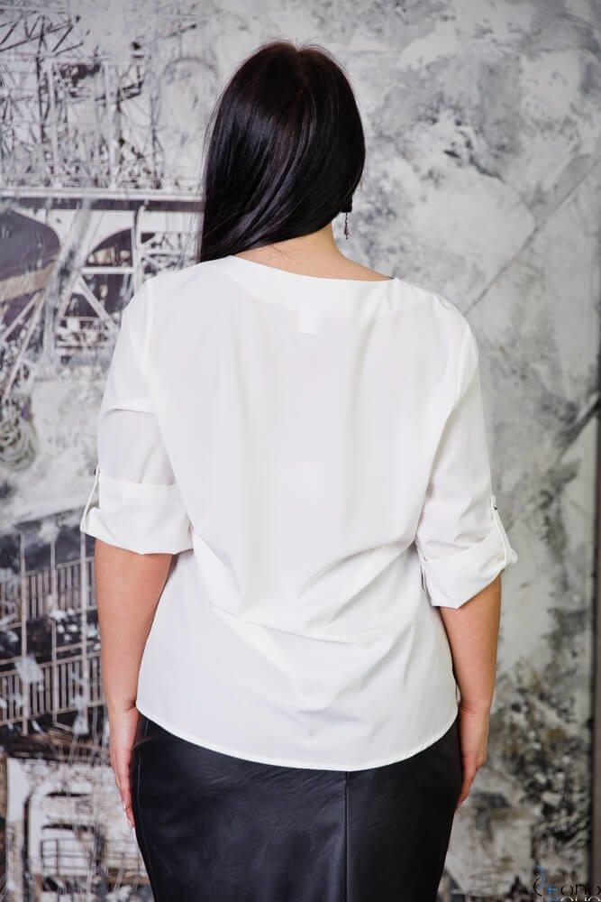 Bluzka SERRENA Ecru Plus Size