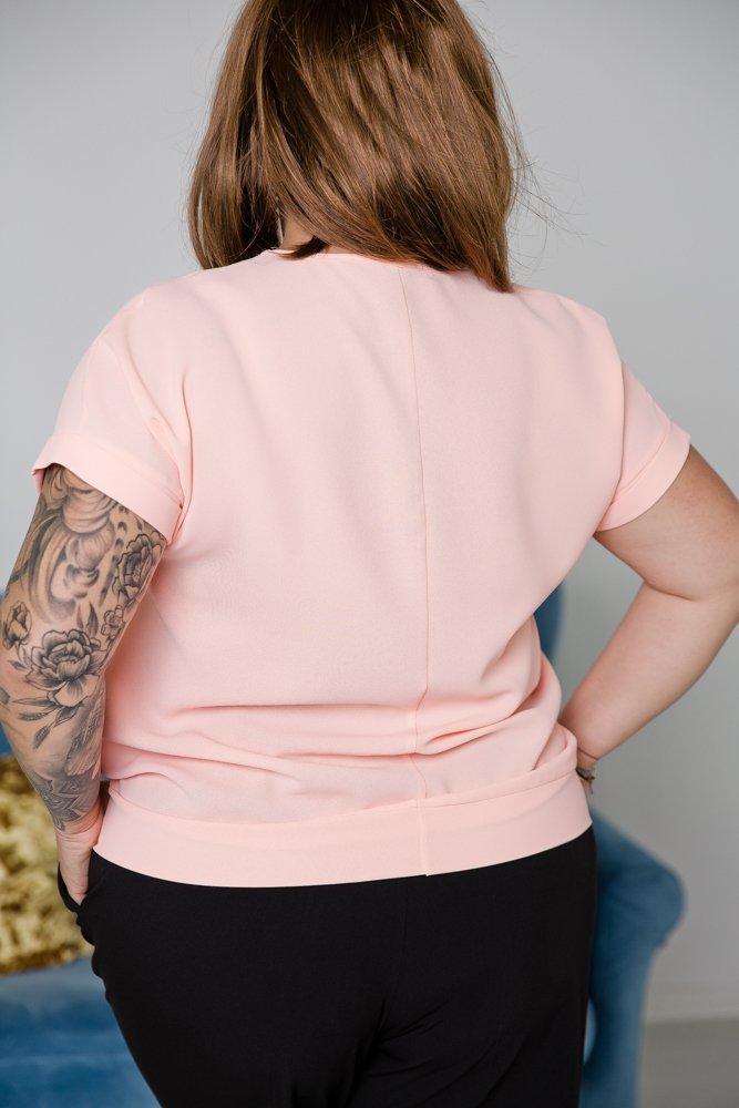 Brzoskwiniowa Bluzka PARMA Plus Size