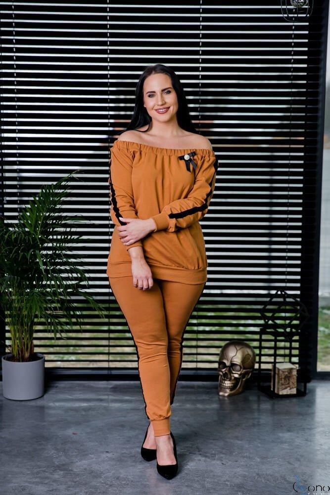 Camelowa Bluza RODNEY Plus Size