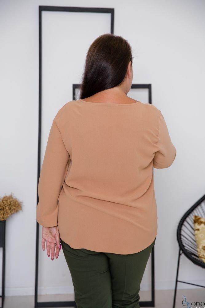 Camelowa Bluzka RAFAELA Plus Size