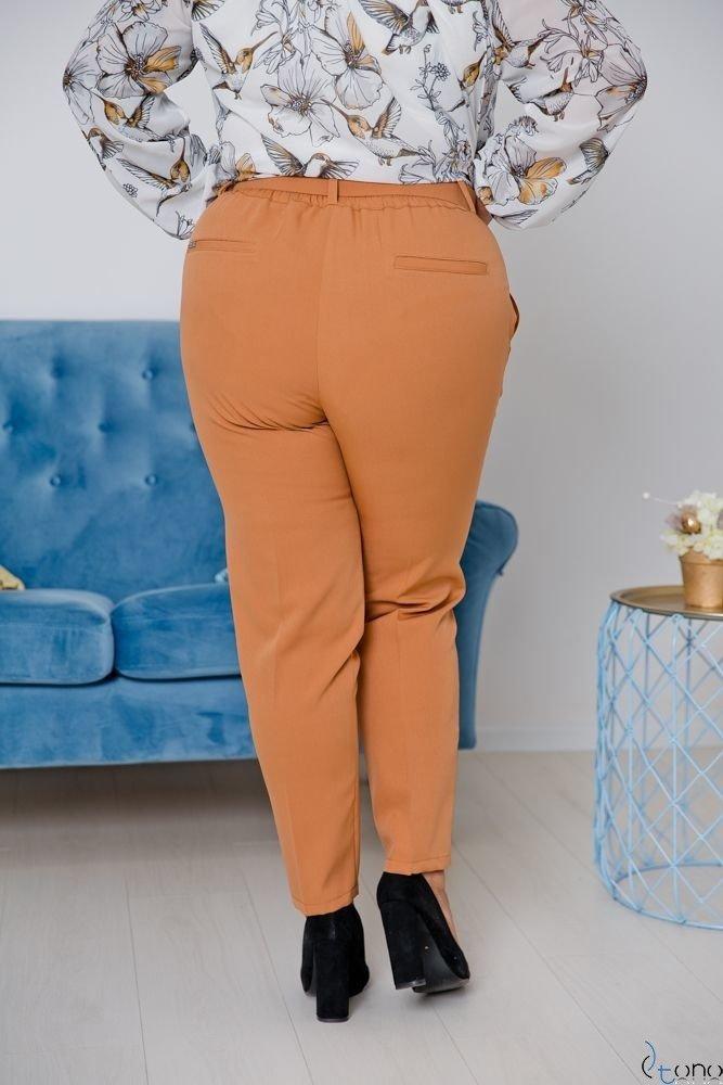 Camelowe Spodnie GINGESS Plus Size