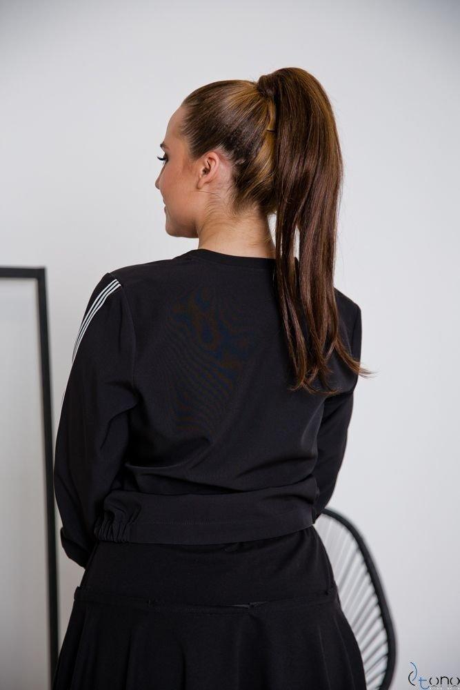 Czarna Bluza ENCARA Plus Size Bomberka Wzór 4