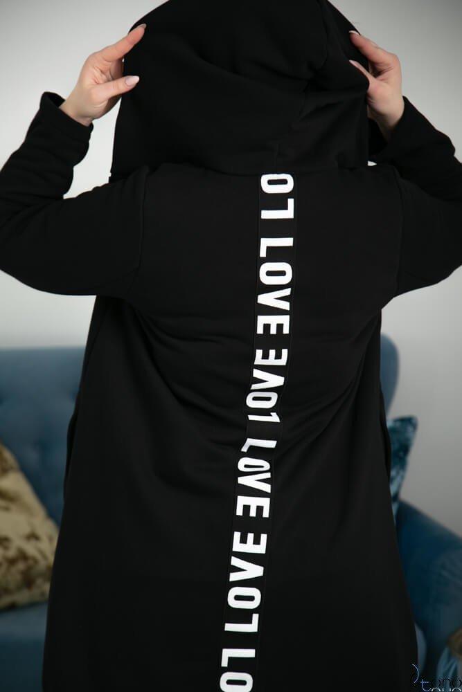 Czarna Bluza MADELLA Plus Size