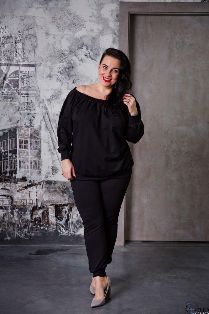 Czarna Bluza RODNEY Plus Size