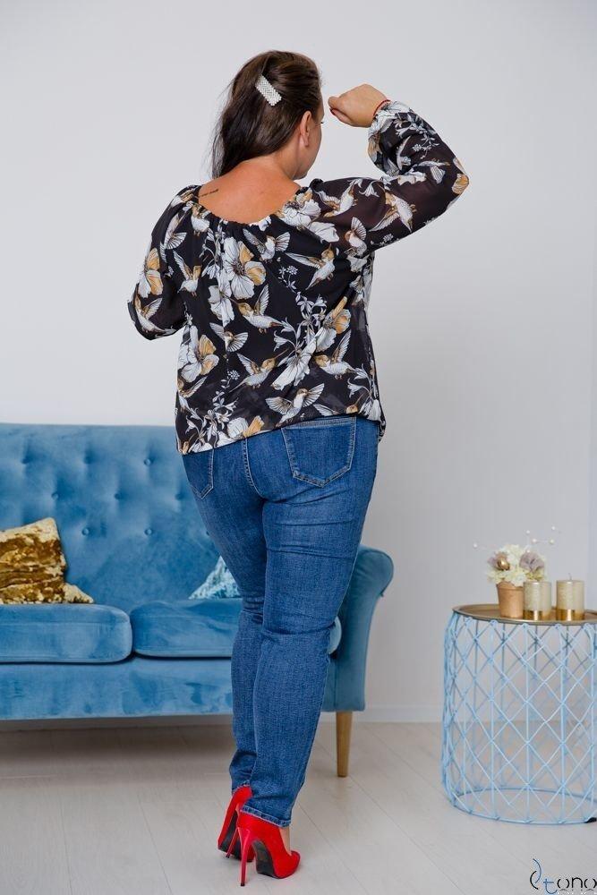Czarna Bluzka FALLEN Plus Size