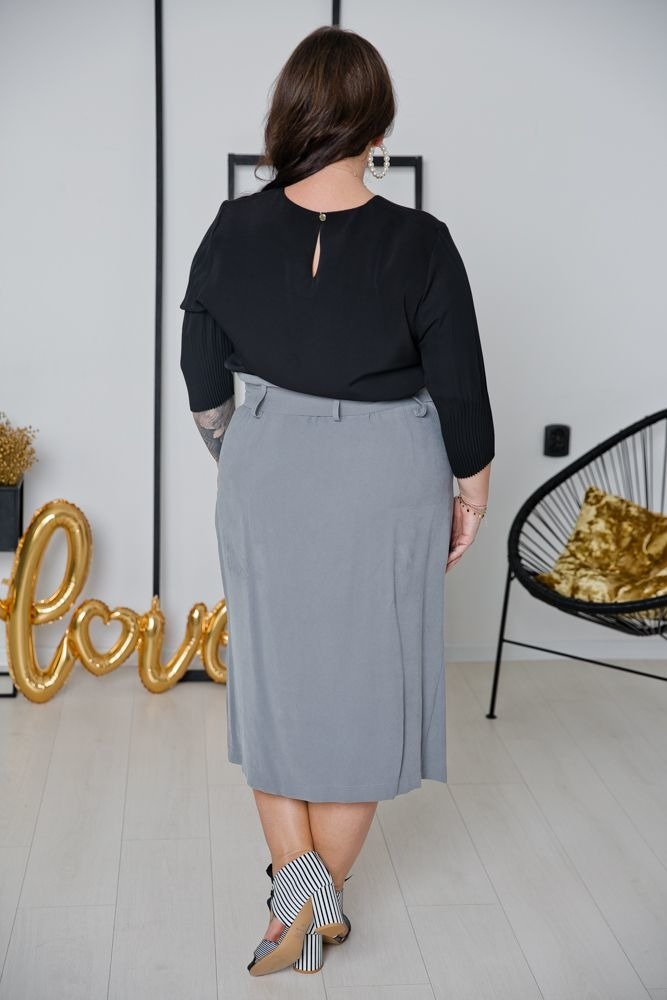 Czarna Bluzka JULIANA Plus Size