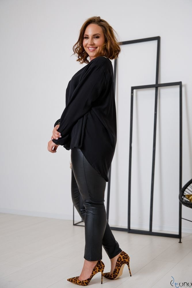 Czarna Bluzka PLASIR Plus Size