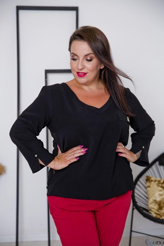 Czarna Bluzka RAFAELA Plus Size