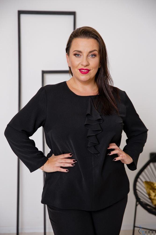 Czarna Bluzka VERTER Plus Size