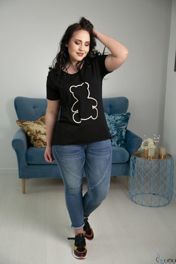 Czarna Bluzka WINEY Plus Size