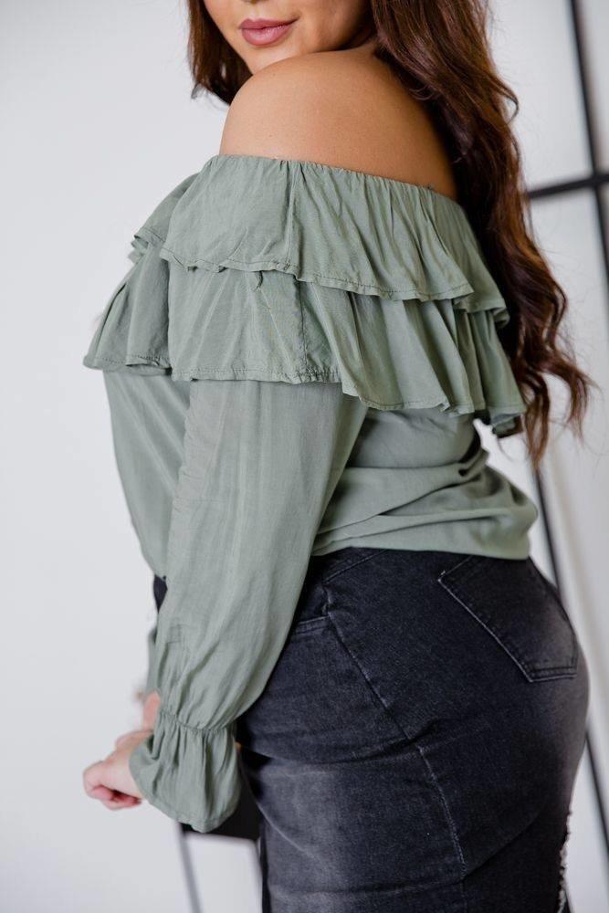 Czarna Jeansowa Spódnica FRAY Plus Size