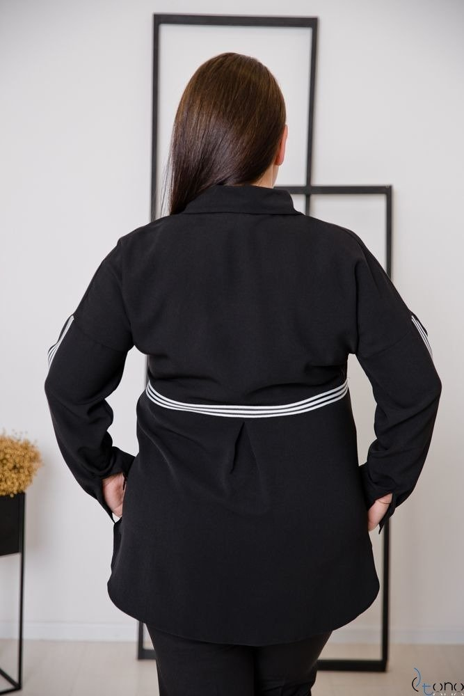 Czarna Koszula ERINE Plus Size