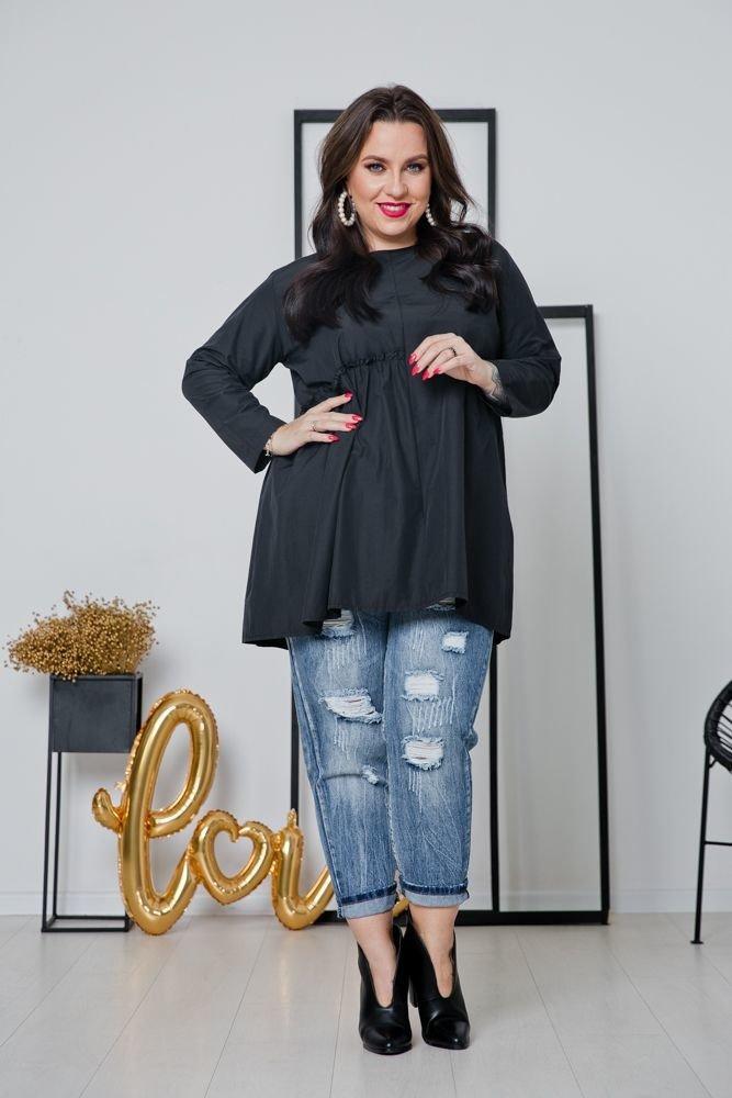 Czarna Koszula NEVICA Plus Size