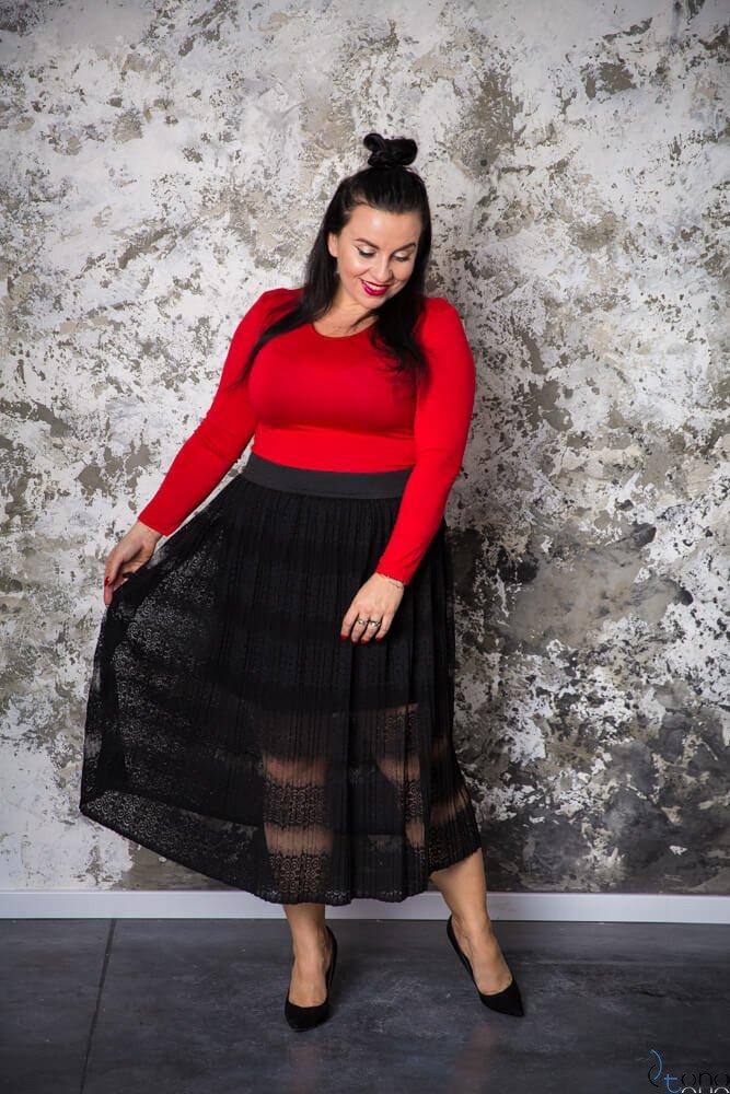 Czarna Spódnica AYONA Plisowana Plus Size