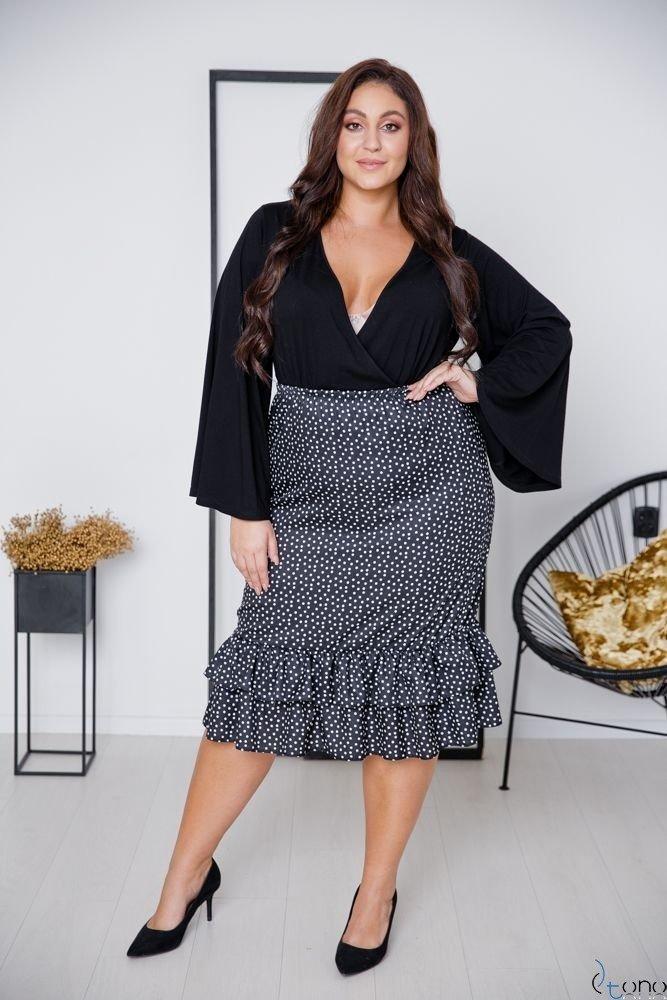 Czarna Spódnica BILOU Plus Size